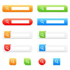 search buttons and icons