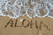 Leinwanddruck Bild - Aloha in Sand, Hawaii, USA