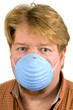 Man Wearing Dust Mask