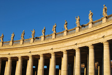 The colonnade of St Peter's Square in Rome