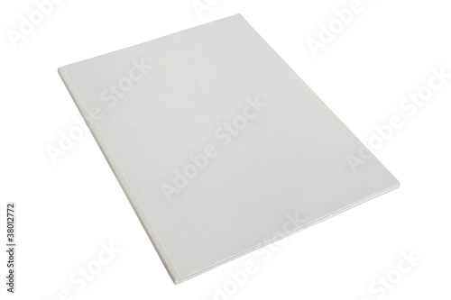 blank white brochure or magazine cover