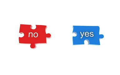 Puzzelteile Yes/No