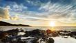 Crépuscule sur les côtes réunionnaises