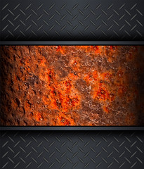 Background with old rusted metal texture