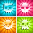 Retro Colorful Skulls