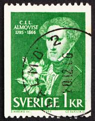 Postage stamp Sweden 1966 Carl Jonas Love Almqvist
