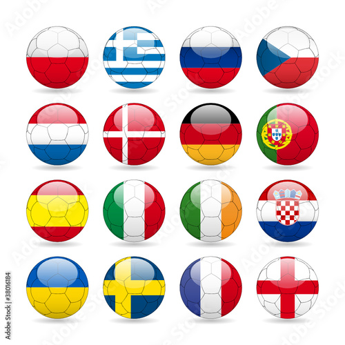 Fußball 2012 Teilnehmerbälle