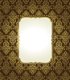 vector vintage background with golden elements