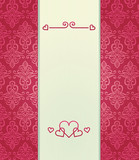 pink vintage background with love theme