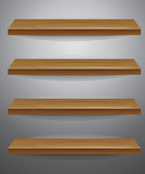 vector wooden shelf