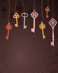 abstract vector background with keys