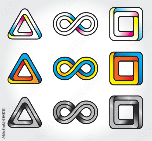 set of abstract infinite logos