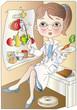 la dietologa