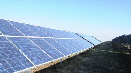 Solar photovoltaic panels. Solar park