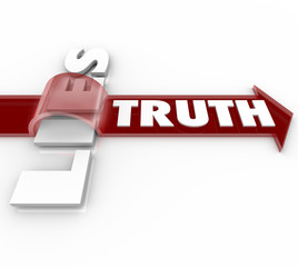 Truth Beats Lies Arrow Over Word Honesty vs Dishonesty