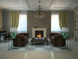 Living-room in the modern country-house