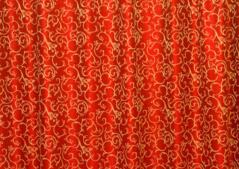 red curtain as background