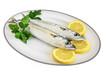 plate with two mackerels - piatto con sgombri