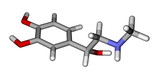 Adrenaline sticks molecular model poster