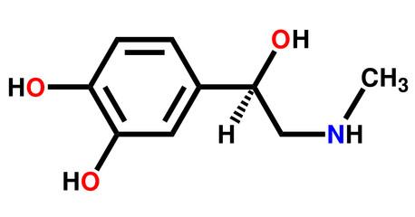 Adrenaline structural formula