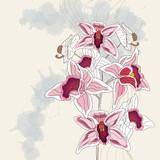 ramo di orchidea con spazio per testo