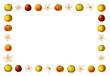 Rahmen mit Äpfeln