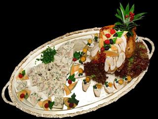 roast turkey and mushroom terrine