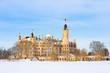 Leinwandbild Motiv Schweriner Schloss im Winter