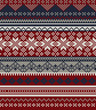 Knitted background in Fair Isle style in three colors