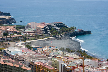 Aerial view of vacation resort at La Palma, Canary islands