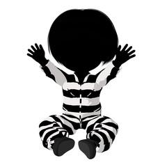 Little Criminal Girl Illustration