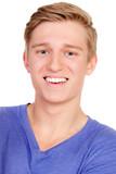 Fototapety portrait eines lachenden jungen mannes