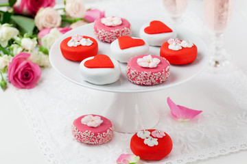 petit fours for Valentine's Day