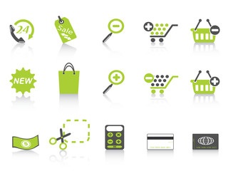 shopping icon green series