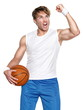 Basketball player isolated