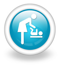 "Light Blue Icon ""Baby Change"""