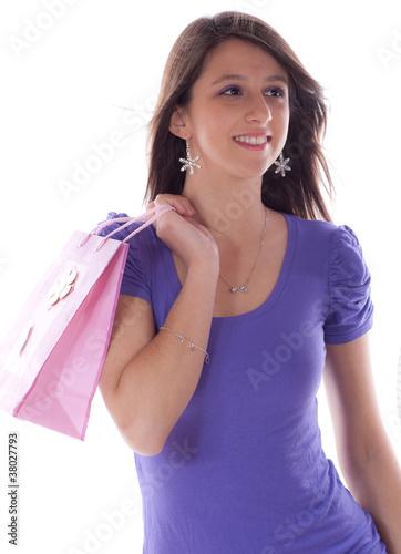 shooping - jeune femme souriante