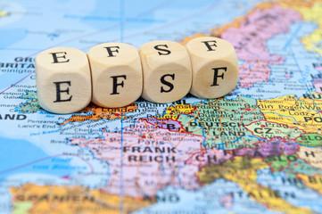 EFSF auf Europakarte