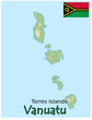 vanuatu torres islands map flag emblem