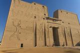 The entrance portal to the temple of Edfu (Egypt)