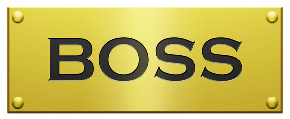 """Boss"" Engraved Plaque"