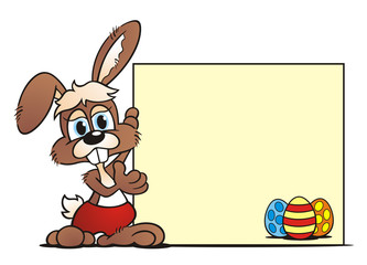 Little Easterbunny with board