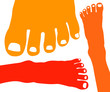 Healthy female feet vector illustration.