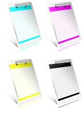 White clipboard