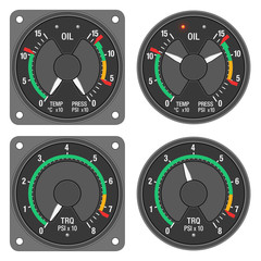 Aircraft indicators 1 - 480B dashboard set