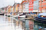 Nyhavn waterfront, canal in Copenhagen