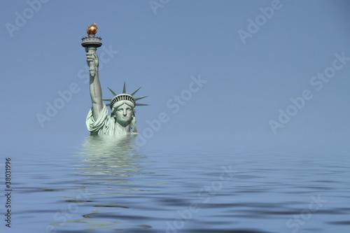 Leinwandbild Motiv New York - 013 - Freiheitsstatue - UW quer