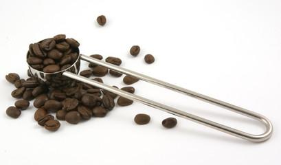 silver coffee scoop