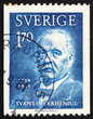 Postage stamp Sweden 1959 Svante Arrhenius, chemist and physicis