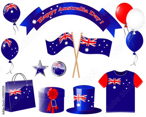 Australia day. Website icons.